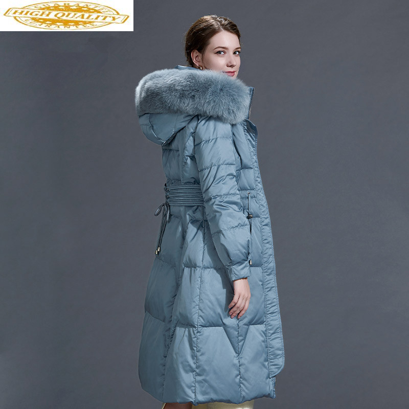 Real Fox Fur Collar Down Jacket Winter Coat Women Clothes 2020 Korean Long Coat Female Warm Parka Manteau Femme Y864