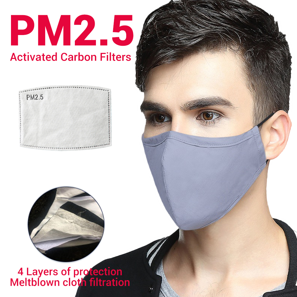 Cotton Motorcycle Masks Face Mask Mouth Caps Face Shield Balaclava Eltblown Cloth PM2.5 Dust Mask Mouth Filter Protective Mask