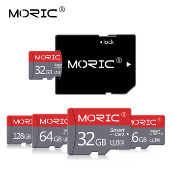 Moric Micro SD TF Card 8GB 16GB 32GB 64GB 128GB 256GB Class 10 Flash Memory Microsd Card tarjeta with Free adapter image