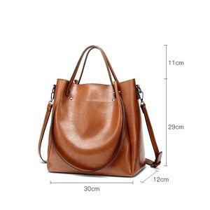 Image 2 - Kadın rahat çanta kadın Tote omuz çantası PU deri bayanlar kova çanta Messenger çanta yumuşak küçük alışveriş Crossbody çanta