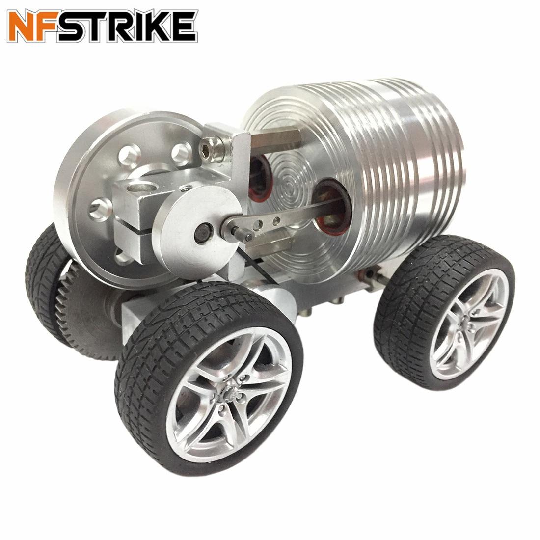 Oyuncaklar ve Hobi Ürünleri'ten Modeli Yapı Setleri'de 2019 Yeni Tasarım Launchable Gelişmiş Sürüm Lastik Tekerlekli Araba Stirling Motor Modeli çocuk için oyuncak doğum günü hediyesi'da  Grup 1
