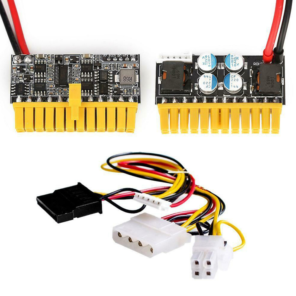 12V 180W 24Pin Durable Board Mini PicoPSU DC-ATX Power Module Accessories Computers Parts Supply High Power Tool Replacement