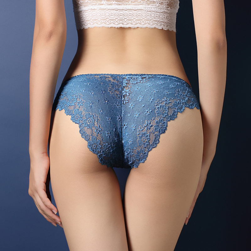 Hot Fashion Women Underwear Sexy Lace Transparent Low Waist Hollow T Back   Panties   Lady Briefs