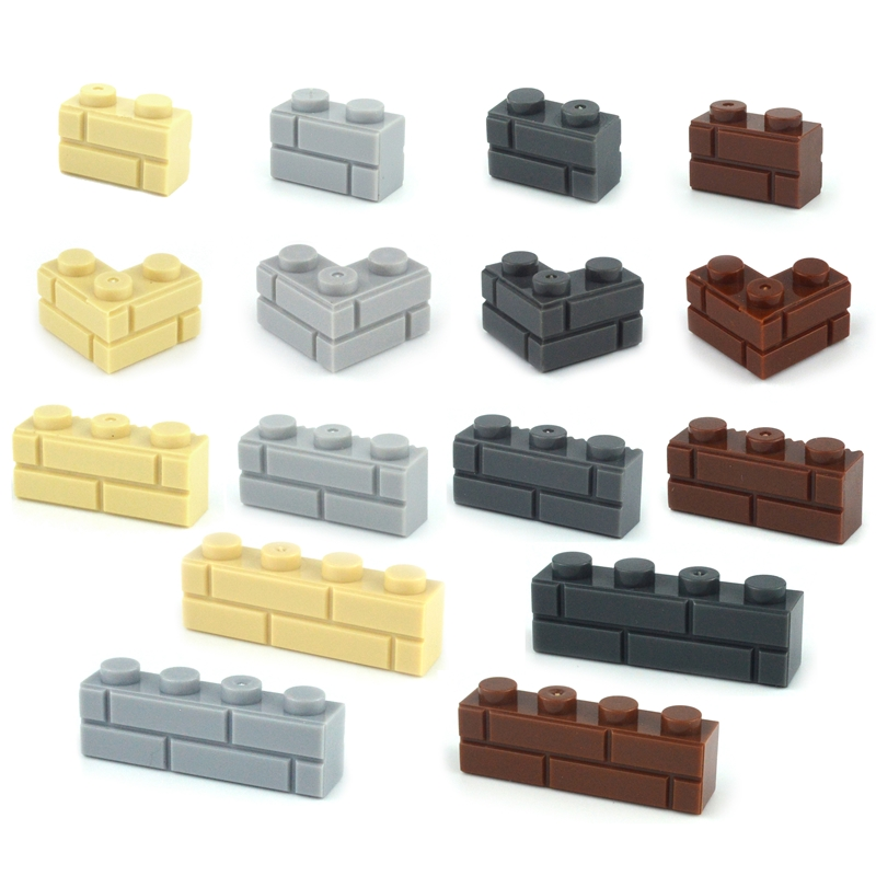 Military MOC Parts Building Blocks Thick Wall Classic Bricks City Accessories Sandbags Stairs Ladders DIY Fence 98283 15533 6020