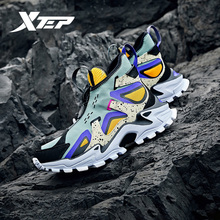 Xtep fashion high cut chunky sneakers men women casual
