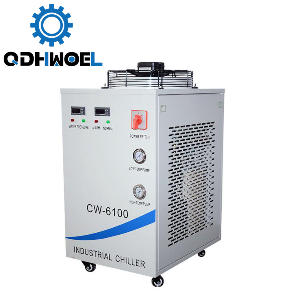 220V CW-6100AH <font><b>CNC</b></font> <font><b>Spindle</b></font> Water Chiller For Cooling Dual <font><b>200W</b></font> or Single 400w CO2 Laser Tubes image