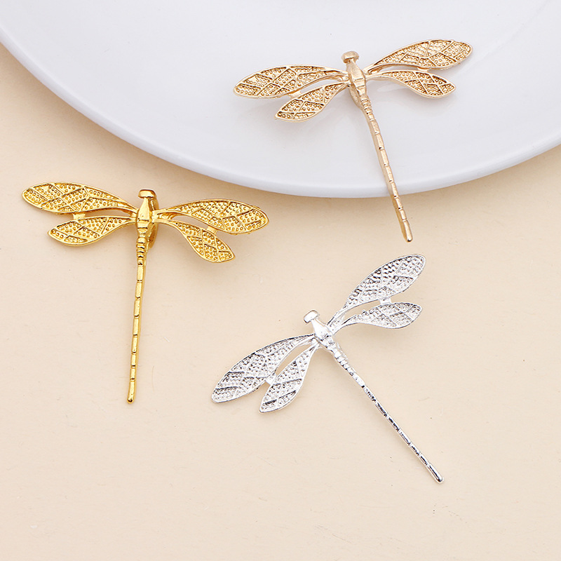 20 PCS 36*43MM Fashion Metal Alloy Gold/KC Gold/Silver Color Dragonfly Connectors Charm Diy Jewelry Findings
