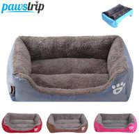 S-3XL 9 Colors Paw Pet Sofa Dog Beds Waterproof Bottom Soft Fleece Warm Cat Bed House Petshop cama perro