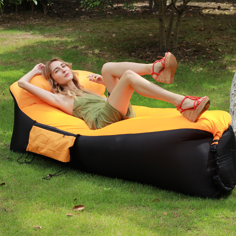 Beach Chair Camping Pillow Inflatable Sofa Outdoor Portable Sofa Foldable Large Inflatable Bed Lazy Bed Lounge Folding Chair