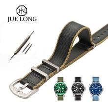 New Design Grey Khaki Nylon Watch Strap For Omega Rolex Seatbelt Nato 22mm