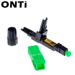 Image 3 - ONTi 200pcs SC UPC Single Mode Fiber Optic Fast Connector SC APC FTTH SC Quick Connector SC Adapter Field Assembly
