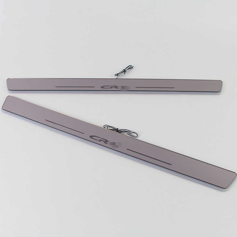 SJ Custom Fit Trim Pedaal Auto Exterieur Onderdelen LED Instaplijsten Scuff Plaat Auto Accessoires licht Voor Honda CRV CR-V 2015 16 17 2018