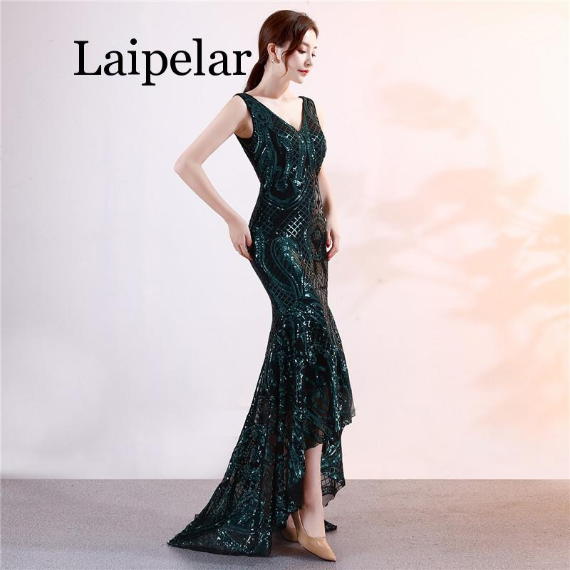 Laipelar New Sexy Summer Dress Sequined Woman V-Neck Nightclub Show Celebrity  Host Prom Long Maxi Dress Everyday