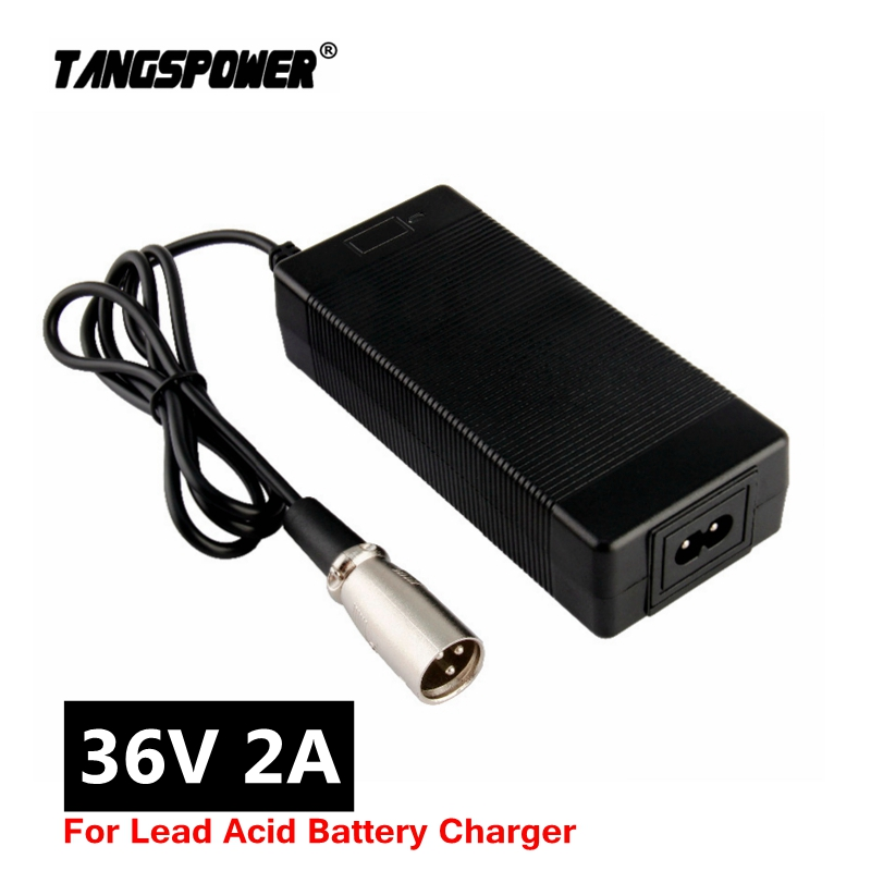 36V 2A lead-acid battery charger for 41 4V electric scooter e-bike wheelchair Charger lead acid battery 3-Pin XLR Connector