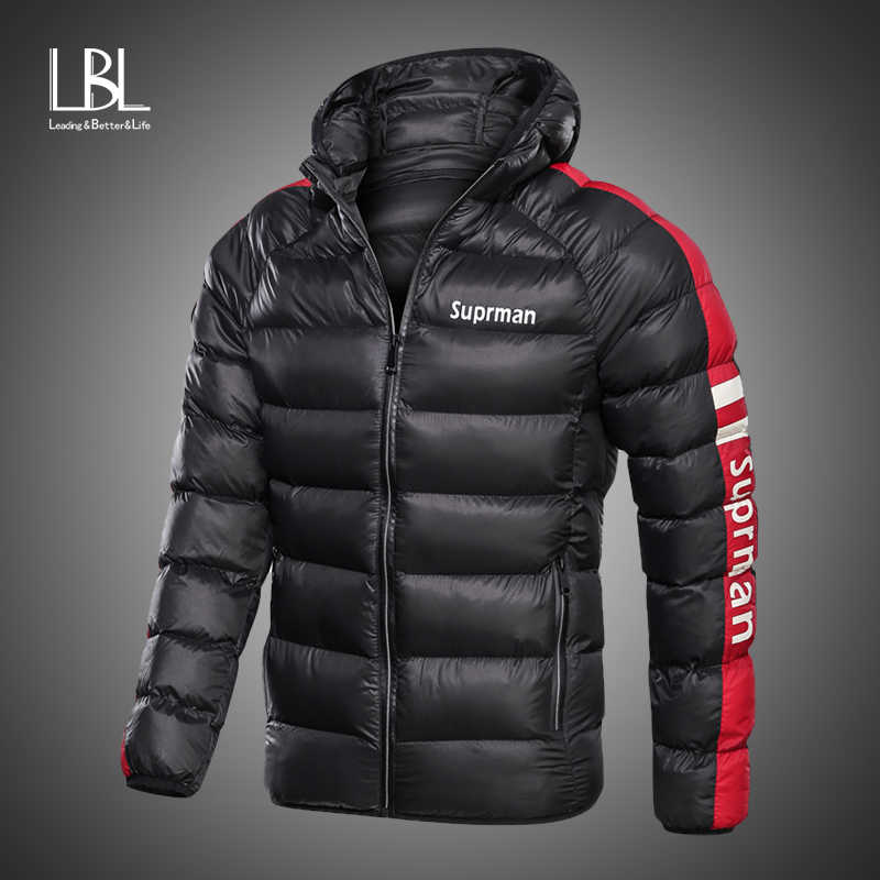 Nieuwe Mode Mannen Winter Jas Met Capuchon Warme Mens Winter Parka Thicken Uitloper jassen Casual Slim Fit Student Mannelijke Overjassen