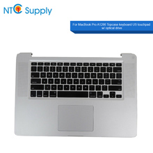 NTC Supply For MacBook Pro A1286 2008-2012 Year Topcase keyboard US touchpad w/ optical drive 100% Tested Good Function
