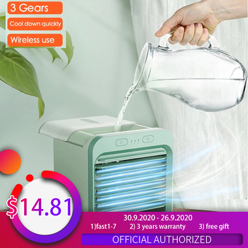 Home Mini Air Conditioner Portable Air Cooler Fan Air Conditioner Light Desktop Air Cooling Fan USB Personal Space Cooler air cooler arctic air personal space cooler mini fan water cooling space air conditioner fan device home office desk