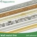 Kaguyahime 3D самоклеящиеся пена граница стены линия талии 2,3 м Водонепроницаемый верхнем углу линии DIY настенные край декоративная лента обои