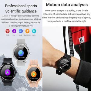 Image 2 - LEMFO ساعة ذكية الرجال النساء كامل شاشة تعمل باللمس مخصص مراقب معدل ضربات القلب رسالة تذكير الصحة الرياضة المقتفي Smartwatch T6