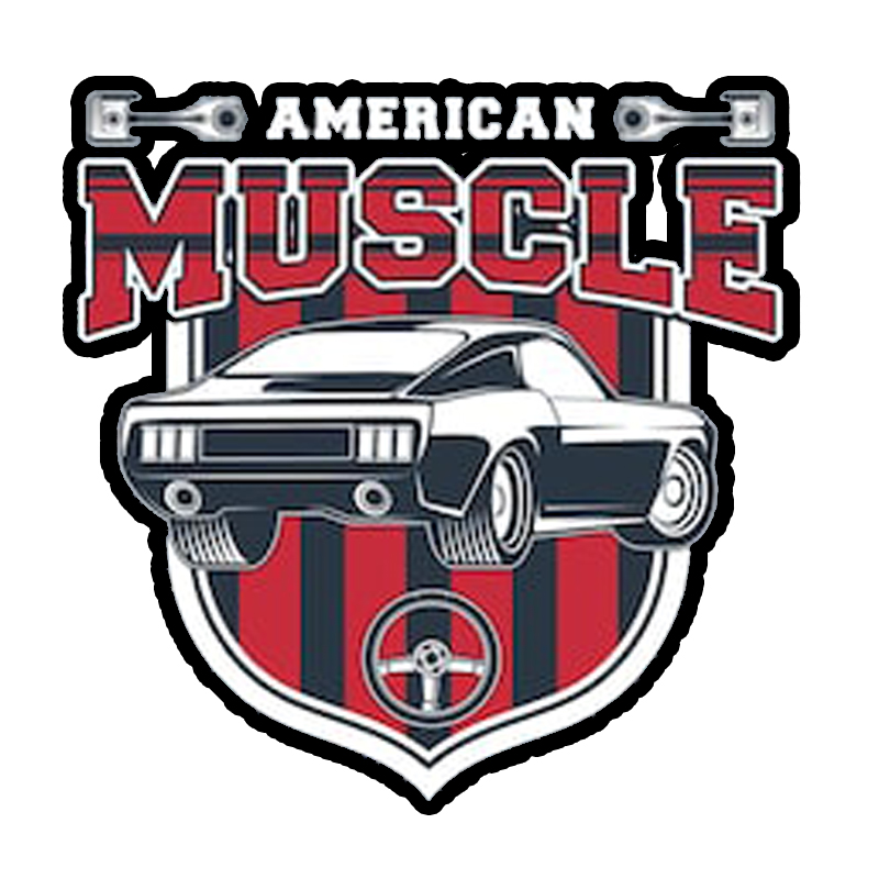Classic Muscle Car Vintage American Sticker Decal