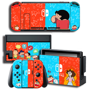 Image 2 - Crayon Shin chan Skins Protector Stickers for Nintendo Switch NS Console + Controller + Stand Sticker