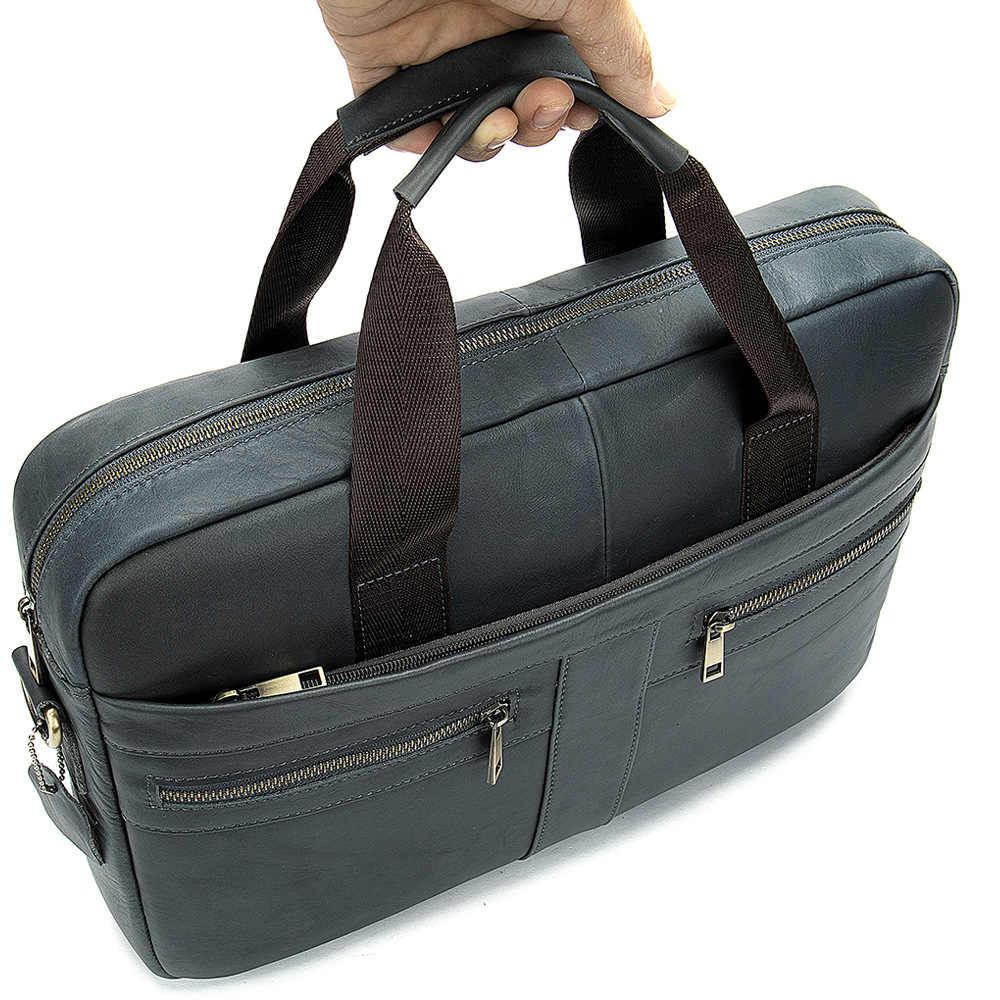 MVA повседневный кожаный портфель 100% натуральная кожа мужская сумка на плечо женский портфель кожаная сумка из коровьей кожи мужской портфель