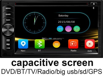 universal 2 Din 6.2 in-dash Car DVD player with GPS,Map,BT/TV/Big USB slot,audio Radio stereo,Car multimedia headunit video image