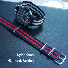 Brand 20mm 22mm Watchband High Quality NATO Nylon Watch Band Silver Buckle Watch Strap Many Color Available hot wholesale 10pcs lot watchband 22mm nylon strap nato strap waterproof watch band 45 color available