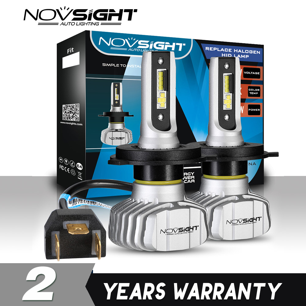 NOVSIGHT H1 Car LED Headlight Kit Bulbs 10000LM High//Low Beam 6500K White Lamp
