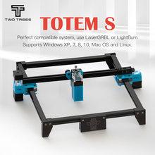 Deux arbres Totem S 40W Machine de gravure Laser bricolage Installation facile se connecter à un Support informatique Laser GRBL pour Cutter