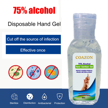 50ml 75% Quick-drying Alcohol Disposable Hand Sanitizer Hands-Free Water Disinfecting Hand Wash Gel Hot Sale