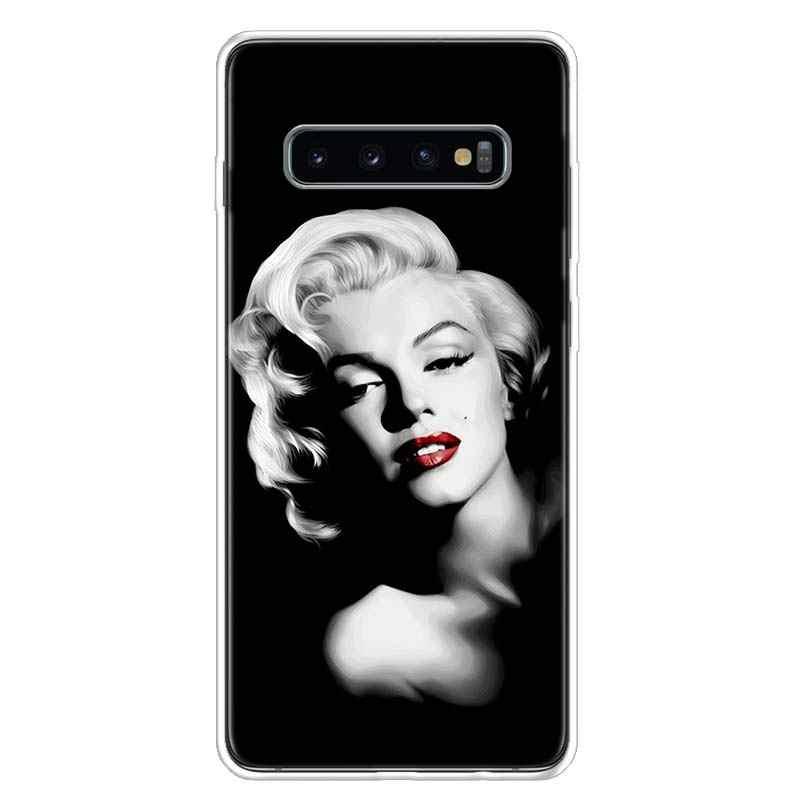 Marilyn Monroe – coque de téléphone pour Samsung Galaxy A51, A71, A50, A10, A20E, A30, A40, A70, M30S, A01, A21, A6, A7, A8, A9 Plus, Pin Up, fille