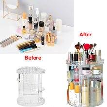 2019 Hot Sells Luxury Makeup Cosmetic Rack Holder 360 Degree Rotating Organizer Acrylic Case