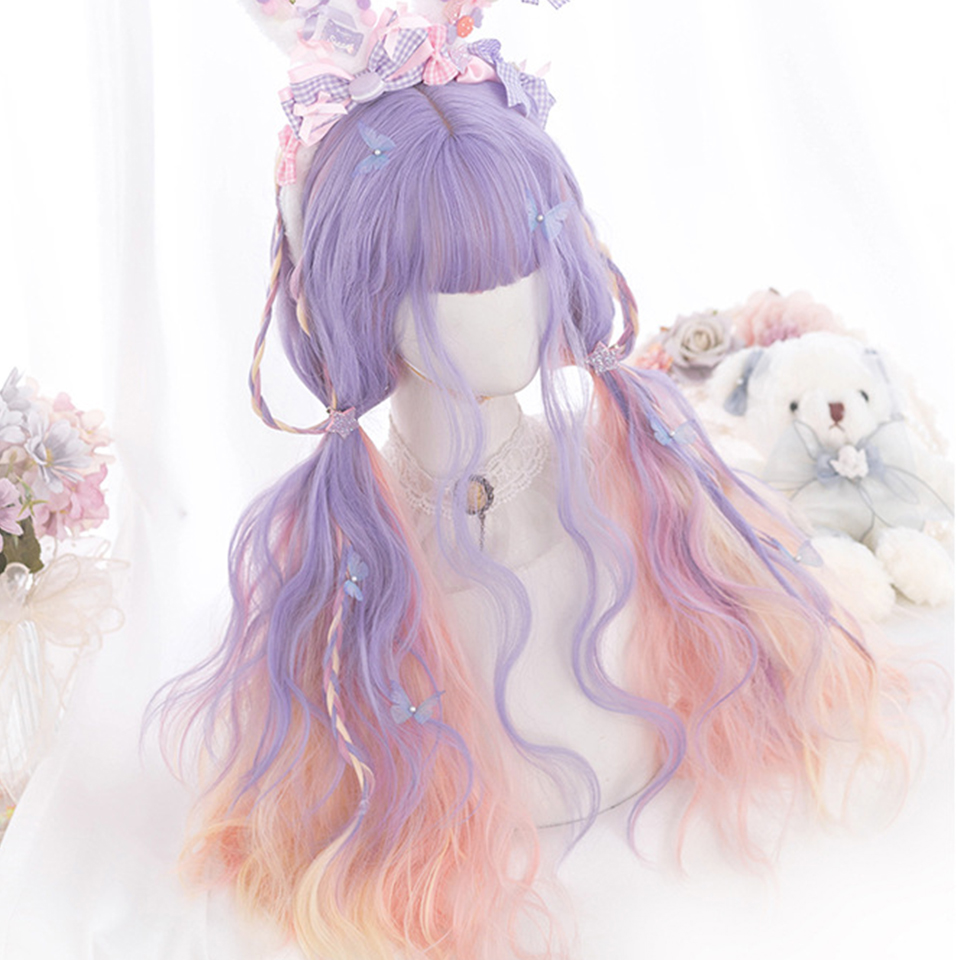 Pastel Ombre Aesthetic Wigs 1