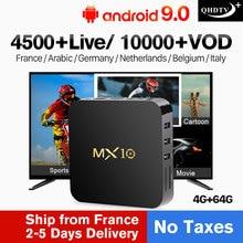 QHDTV Plus MX10 IPTV France/Arabic/Italy/Spian/Canada Android 9.0 4G+64G USB3.0 IPTV France/Arabic/Italy/Spian/Canada Code IPTV leadcool pro qhdtv plus iptv france arabic italy canada android 8 1 1 8g 2 16g iptv france arabic italy spain canada qhdtv plus