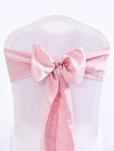 25Pcs 17x275cm Chair Sashes Blush pink Premium Satin Cover Sash Bow Wedding Party Banquet Decor