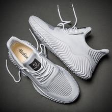 Gran oferta, nuevos zapatos de malla para Hombre, Zapatillas blancas transpirables para Hombre, zapatos deportivos ligeros para caminar en negro para Hombre, Zapatillas para Hombre