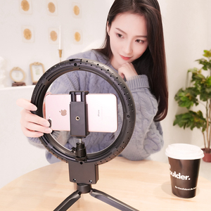Image 5 - 9inch Mini LED Video Selfie Ring Light With Tripod Ring lamps For YouTube Phone Live Photo Photography studio Ringlight