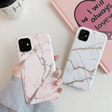Fashion Crack Marble Phone Case for IPhone11 Pro Back Cover Soft IMD Protective IPhone 11 Max X XS XR 10 Coque