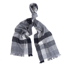 Plaid Scarf Men Wool Keep Warm Winter Fashion Scarves  Luxury Brand Kids and Warp Scarfs for Ladies