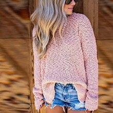 Women Sweater Elegant Side Slit Loose Women Pullovers 2019 Autumn Women Lady Sweater Solid Sweater Women Slim Sexy Pullovers slit lace spliced loose sweater