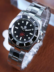STEELDIVE Dive-Watch Nh35 Sapphire Special-Design Waterproof C3 Luminous 200m Mens 1954