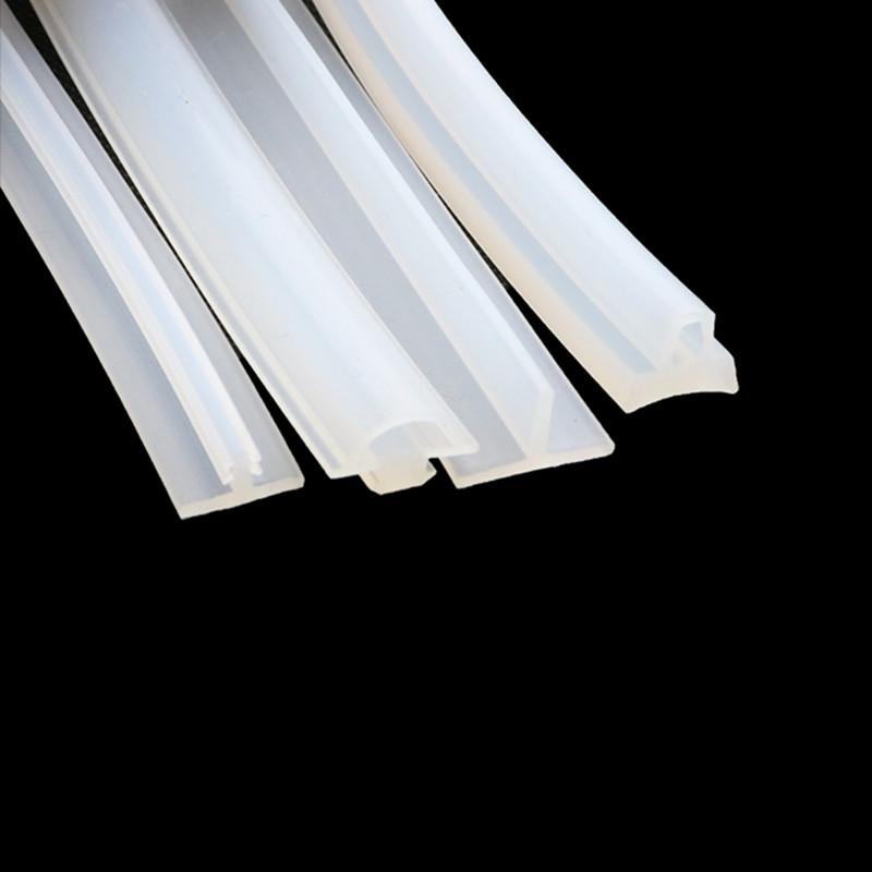 T Shape Silicone Rubber Strip Photovoltaic Power Station Sealing T Bar Waterproof Heat Resist Transparent