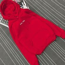 RICORIT Oh Yes Letter Pullover Women Fleece Thick Harajuku Loose Hoodies Female Winter Casual Hooded