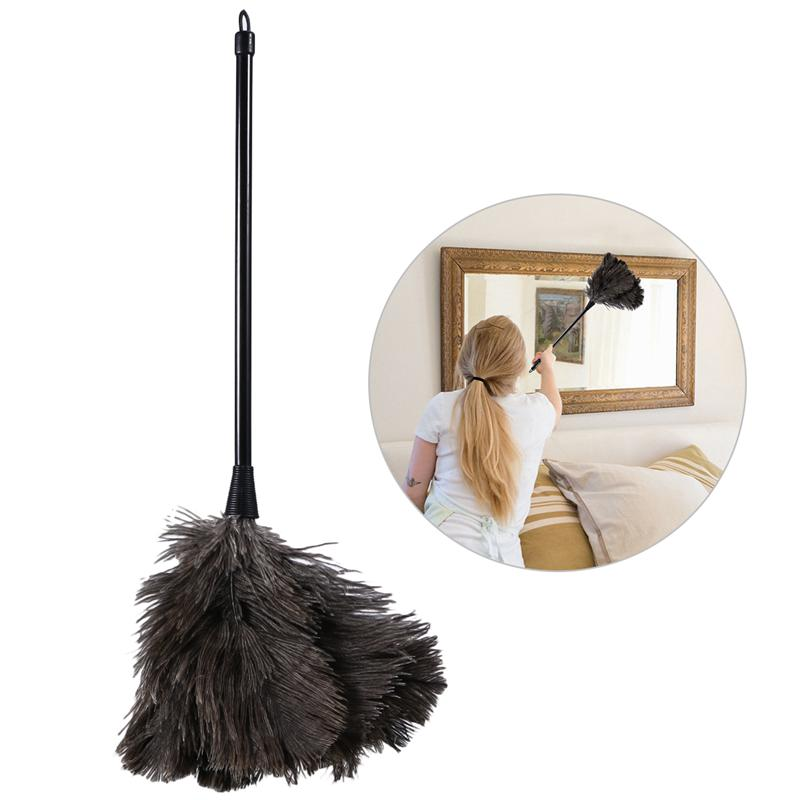 Ostrich Duster Feather Dusters with Long Plastic Handle Brush Dust Cleaning Tool Household Electrostatic Dust Cleaning Tool(China)