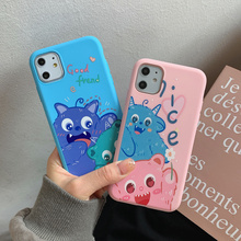 Cartoon Animal Monster Phone Case For iPhone SE 2020 11 Pro Max X XR XS Max 8 7 6 6s Plus New Fashion Protective Cute Cover new iphone case for iphone 11 for iphone11 pro max 5 8 inches 6 1 inches 6 8 inches 6 6s 7 8 plus ix xr max x fashion back cover