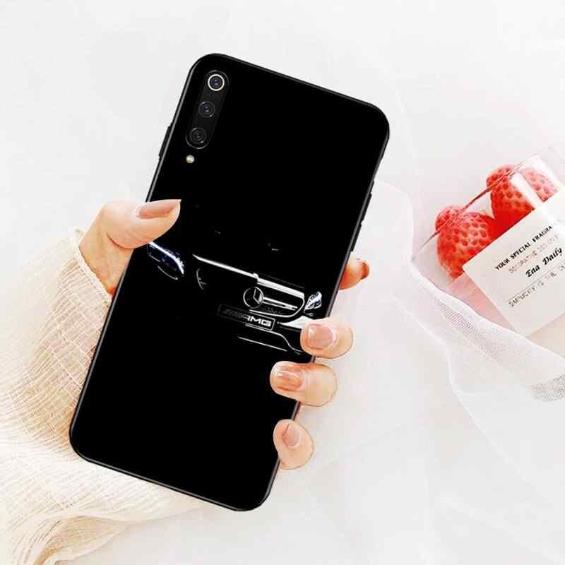 PENGHUWAN Luxury Mercedes Benz AMG Cover Black Soft Shell Phone Case for Xiaomi Mi9 9SE 8SE Pocophone F1 Mi8 Lite