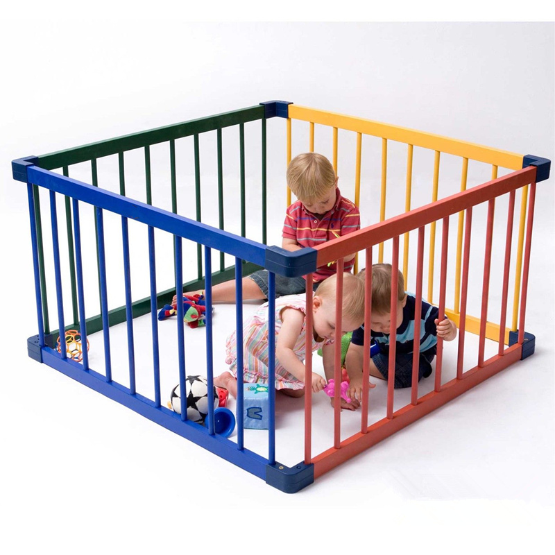 Safety Solid Wood Fence Color Baby Playen Children's Game Fenceing Baby Crawl Toddler Fence Free Shipping