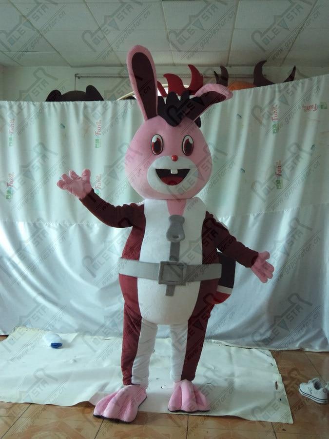 red eyes bunny mascot costumes knight cartoon rabbit costumes