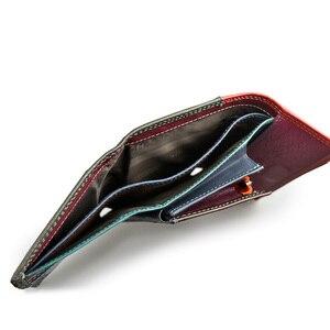 Image 5 - Модный кошелек Beth Cat, женские кошельки из натуральной кожи, Женский кошелек с монетницей, короткий кошелек из хлопьего материала, Дамский клатч с магнитной пряжкой